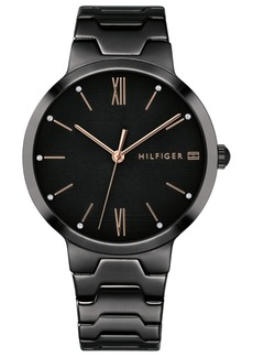 Tommy Hilfiger Women's Black Bracelet Watch 36mm Created for Macy's