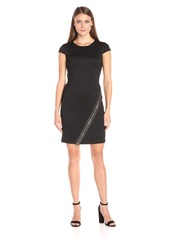 Tommy Hilfiger Women's Cap Sleeve Ponte Sheath W. Embelishment