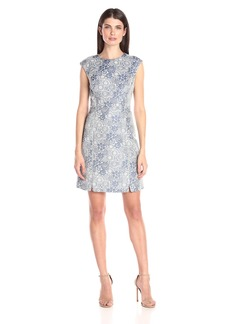 Tommy Hilfiger Women's Cap Sleeve Posey Jacquard Dress