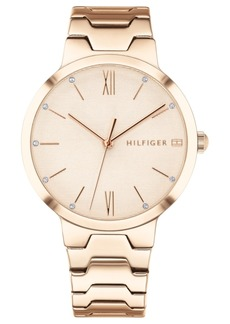 Tommy Hilfiger Women's Carnation Gold-Tone Bracelet Watch 36mm Created for Macy's