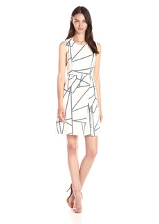Tommy Hilfiger Women's Cats Cradle Bi-Stretch Fit and Flare Dress