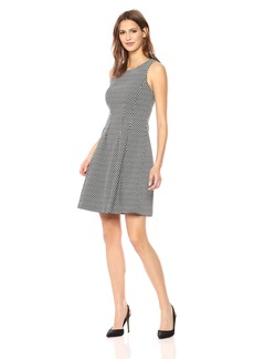 Tommy Hilfiger Women's Checkered Diamond Stretch Dress Black/Ivory