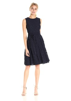 Tommy Hilfiger Women's Circle Clip Chiffon Dress