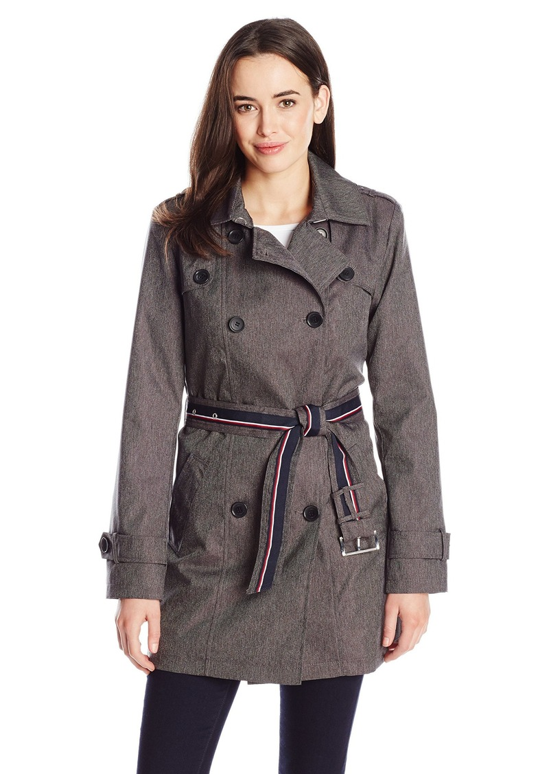 Tommy Hilfiger Women's Coated DB Trench