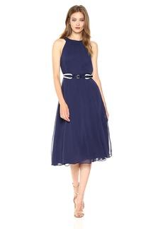 Tommy Hilfiger Women's Coin Toss Chiffon Long Dress