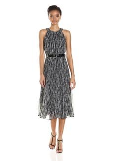 Tommy Hilfiger Women's Belted Long Midi Dress