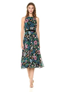 Tommy Hilfiger Women's Coin Toss Chiffon Long Dress