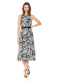 Tommy Hilfiger Women's Coin TOSS Chiffon Long Dresses