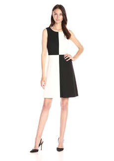 Tommy Hilfiger Women's Color Block Ponte Fit and Flare Dress