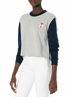 Tommy Hilfiger Women's Colorblock Long Sleeve Lounge Top  M