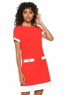 Tommy Hilfiger Women's Scuba Crepe Two Pocket Dress