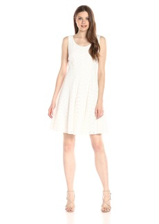 Tommy Hilfiger Women's Corded Daisy Lace Fit and Flare Dress