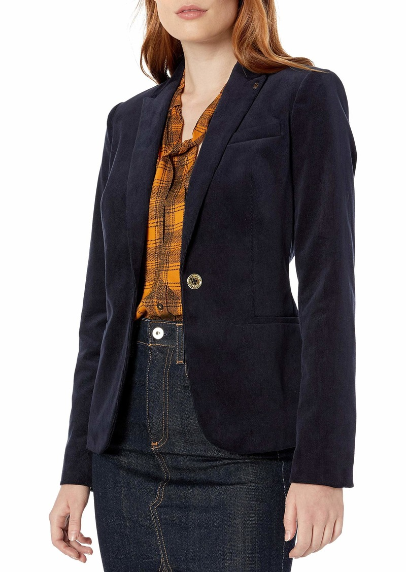 Tommy Hilfiger Women's Corduroy One Button Blazer