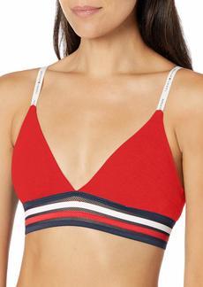 Tommy Hilfiger Women's Cotton Mesh Triangle Bralette Bra  M