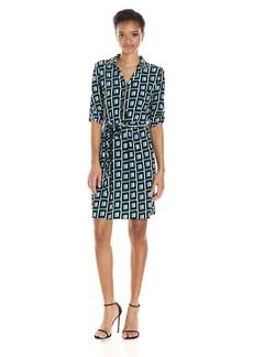 Tommy Hilfiger Women's Lace Border Print Matte Jersey Shirt Dress
