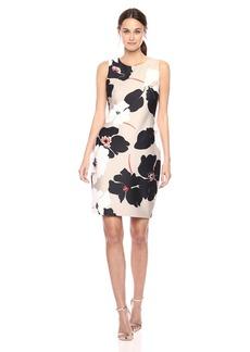 Tommy Hilfiger Women's Cut Out Floral Scuba Dress