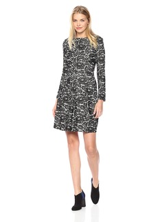 Tommy Hilfiger Women's Denim Lace Jacquard Long Sleeve Dress