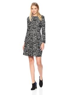 Tommy Hilfiger Women's Denim Lace Jacquard Long Sleeve Dress Black/Ivory