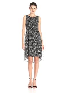 Tommy Hilfiger Women's Dot Chiffon Dress Black/Ivory