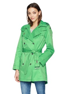 Tommy Hilfiger Women's Double Breasted Casual Trench Coat  L