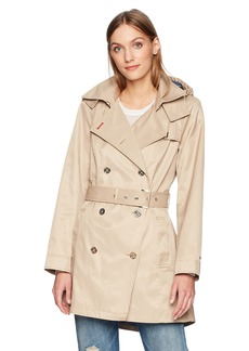Tommy Hilfiger Women's Double Breasted Casual Trench Coat  XS