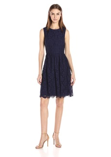 Tommy Hilfiger Women's Double Motif Lace Dress