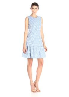 Tommy Hilfiger Women's Dropwaist Polka Dot Dress