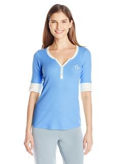 Tommy Hilfiger Women's Elbow Sleeve Henley Top Pajama Shirt Pj  S