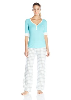 Tommy Hilfiger Women's Top and Logo Pajama Pant Lounge Pj Set  S