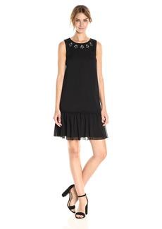 Tommy Hilfiger Women's Embelished Chiffon Flounce Dress