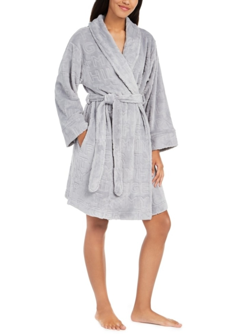 Tommy Hilfiger Women's Embossed Logo Plush Robe