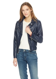 Tommy Hilfiger Women's Faux Leather Moto Jacket  L