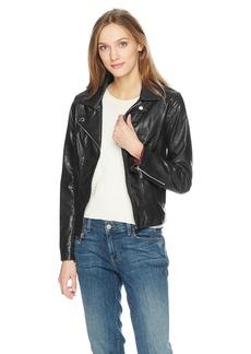 Tommy Hilfiger Women's Faux Leather Moto Jacket  M