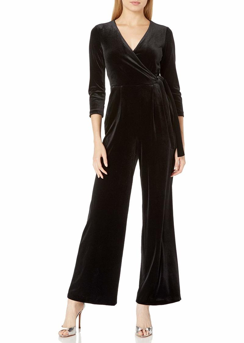 Tommy Hilfiger Women's Faux Wrap Velvet Jumpsuit