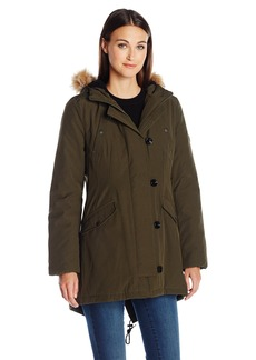 Tommy Hilfiger Women's Fitted Quilted Parka  L