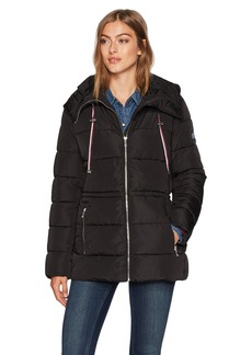 Tommy Hilfiger Women's Flag Patch Puffer Coat