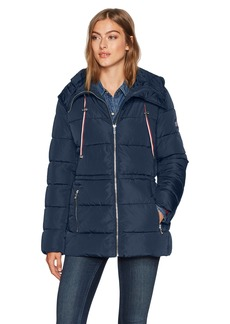 Tommy Hilfiger Women's Flag Patch Puffer Coat  Extra Small