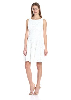 Tommy Hilfiger Women's Floral Lace Fit and Flare Dress