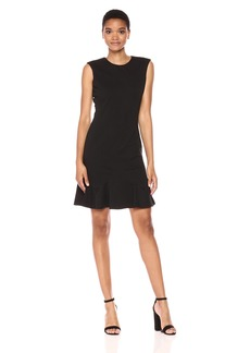 Tommy Hilfiger Women's Flounce Hem Ponte Dress