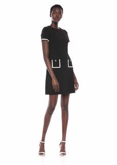 Tommy Hilfiger Women's Framed Pocket Dress Black/Ivory