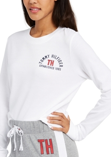 Tommy Hilfiger Women's French Terry Cropped Lounge Top