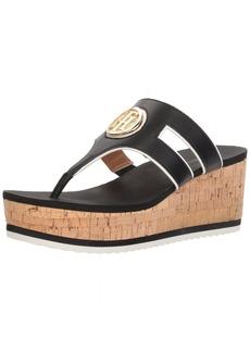 Tommy Hilfiger Women's Galley Wedge Sandal   Regular US
