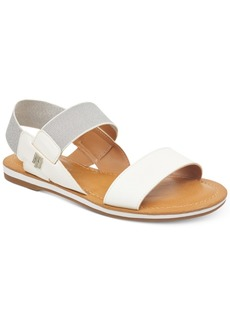 Tommy Hilfiger Women's Geena Stretch Slingback Flat Sandals Women's Shoes