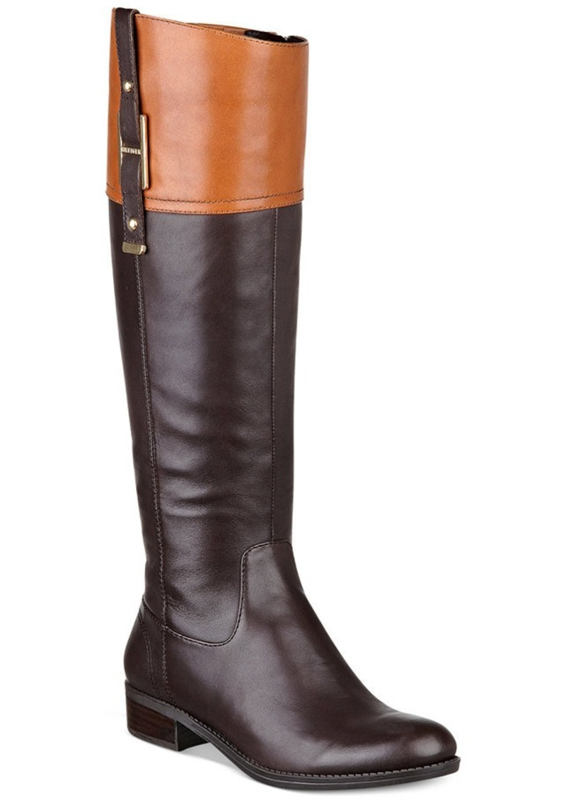 tommy hilfiger tommy hilfiger women 39 s gibsy wide calf riding boots shop it to me. Black Bedroom Furniture Sets. Home Design Ideas