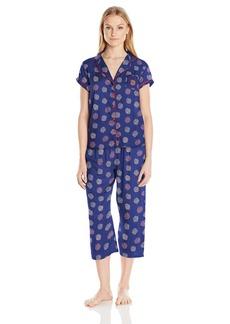 Tommy Hilfiger Women's Girlfriend Top and Pant Bottom Pajama Set PJ Heart/Drangeas S