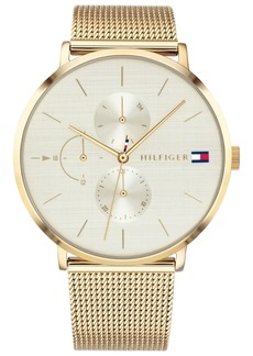 Tommy Hilfiger Women's Gold-Tone Stainless Steel Mesh Bracelet Watch 40mm Created for Macy's