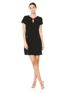 Tommy Hilfiger Women's Grommet Neck Pocket Dress
