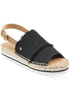 Tommy Hilfiger Women's Grove Slingback Espadrille Flatform Wedge Sandals Women's Shoes