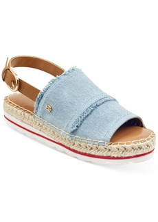Tommy Hilfiger Women's Grove Slingback Espadrille Flatform Wedge Sandals Women's Shoes