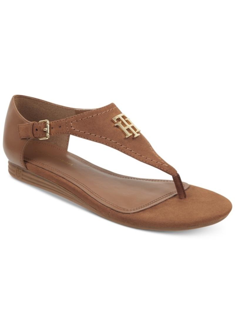 b37fae6ad Tommy Hilfiger Tommy Hilfiger Women s Harber Thong Flat Sandals ...